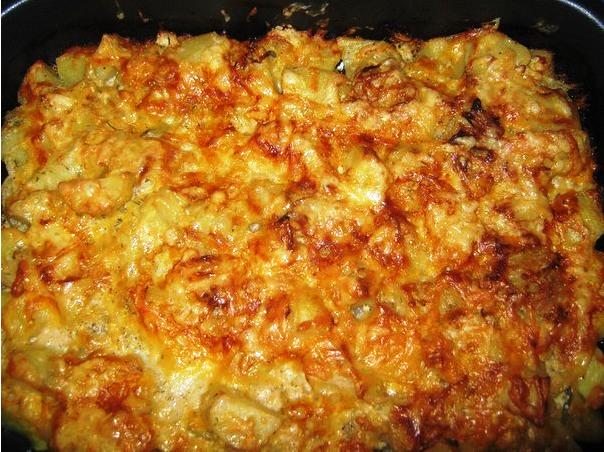 картошка запеченная в кефире под сыром фото