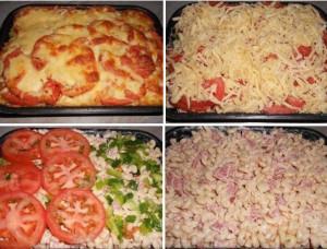 Пикантные макароны в духовке