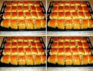 Пироги с капустой и печенью