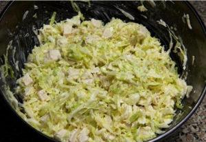 Отменный салатик из свежей капусты с курицей
