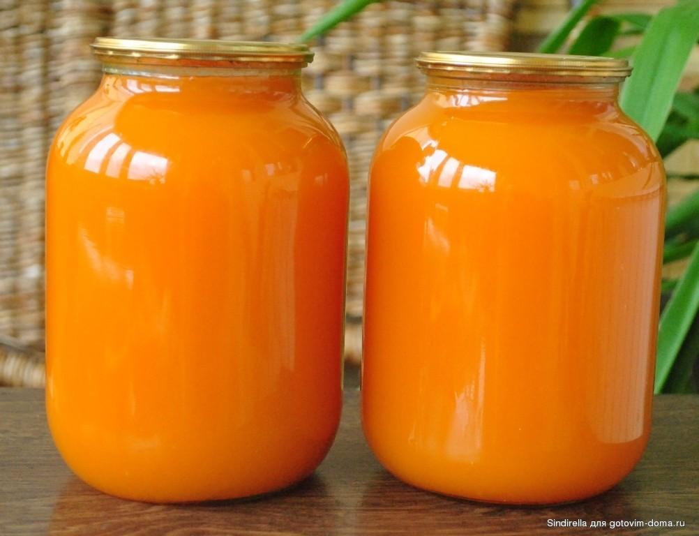 Полезный тыквенный сок с апельсином