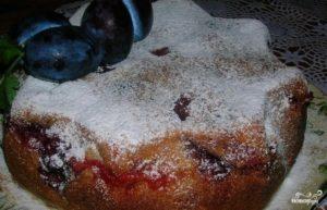 Сливовый пирог на скорую руку