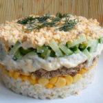 Вкусный слоенный салат