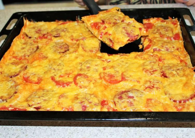 Обалденная пицца и главное никакой возни с тестом