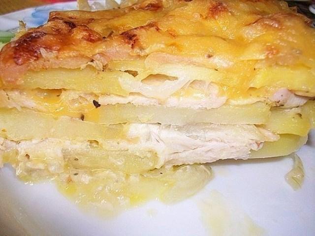Картофельная запеканка с курицей и сыром (по-французски). Удачный рецепт!