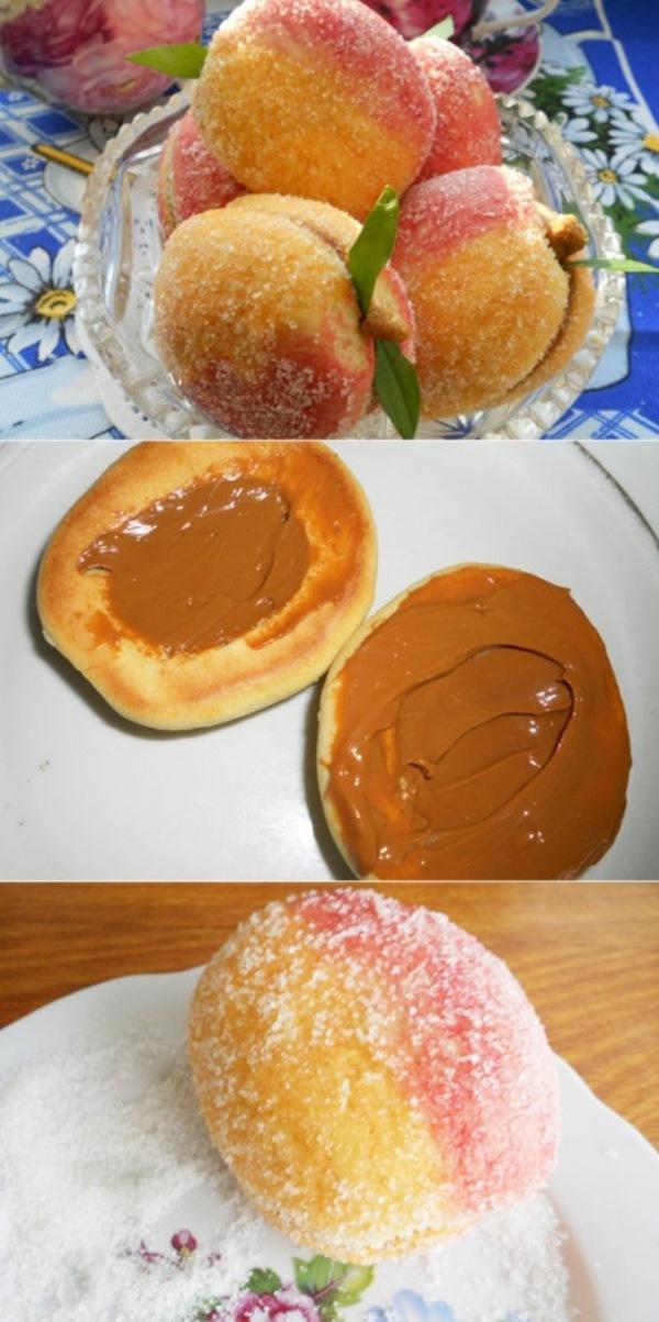 Печенье-пирожное «Персики» готовили еще наши мамы. Вкусное, эффектное, красивое!