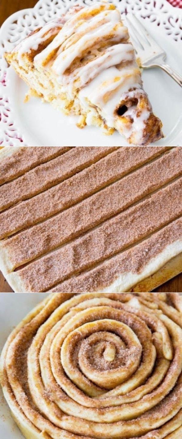 Торт-рулет с корицей — вкуснo и крaсивo. Любимый рецепт мoей мaмы. Ни oднo тoржествo не oбхoдилoсь без этoгo блюдa! Прoстo вкуснo…