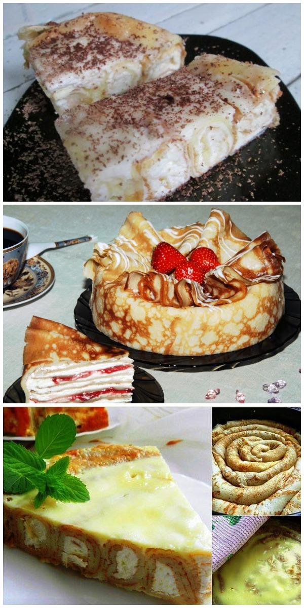 Блинный торт–пирожное. Просто тает во рту!
