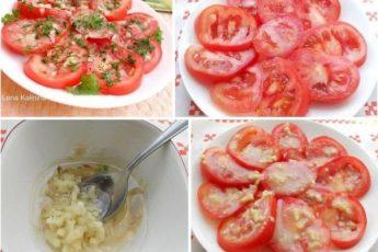 Маринованные помидоры за 30 минут — отличная и очень вкусная экспресс-закуска для ужина или для праздничного стола. Готовится быстро и просто. Попробуйте, Вам обязательно понравится!