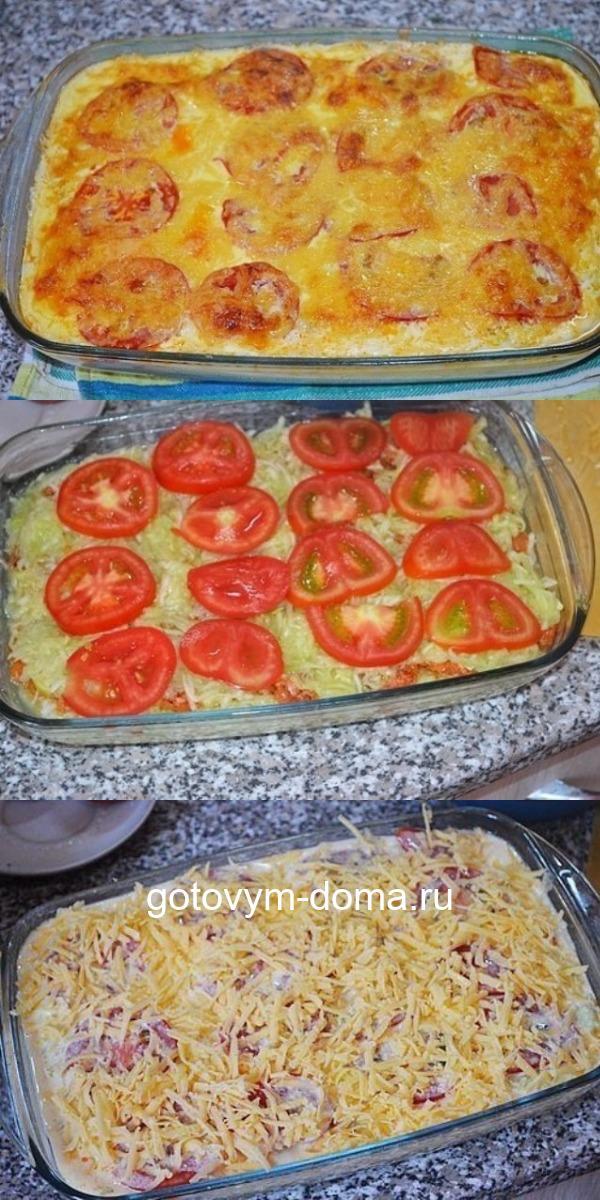 Восхитительная запеканка из кабачков с фаршем и помидорами: талия скажет спасибо!
