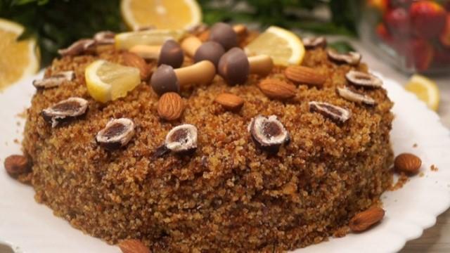 «Экономный» торт. Постный рецепт без яиц и масла.