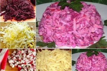 """Нежный и вкусный салат """"Розовый фламинго"""""""