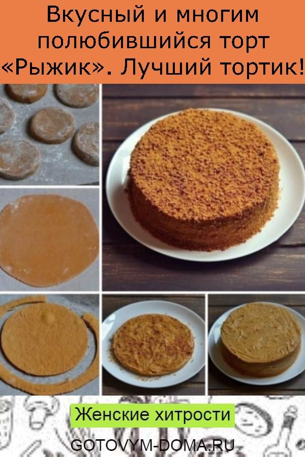 Вкусный и многим полюбившийся торт «Рыжик». Лучший тортик!