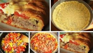 мясной пирог с картофельным тестом фото