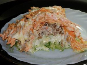 Вкусный новый салат «Мужской каприз»