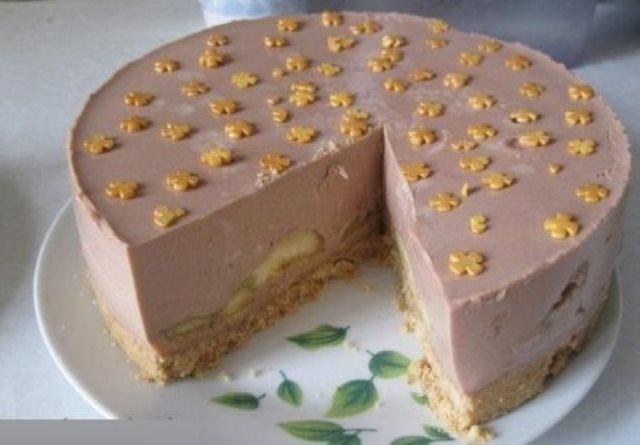 """Шоколадно-банановый торт без выпечки! Деткам по душе. Никаких """"Е"""" и ооочень вкусно"""