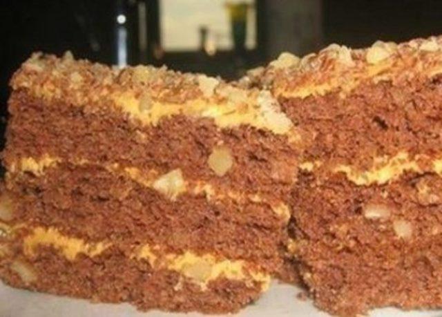 Торт под сказочным детским названием «Золотой ключик». Любимое лакомство каждого со вкусом детства!