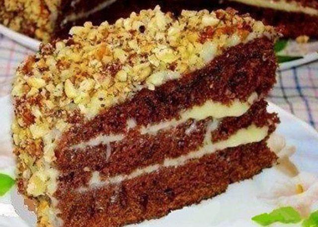 Шоколадный торт на кефире «Фантастика».Попробуйте обязательно!