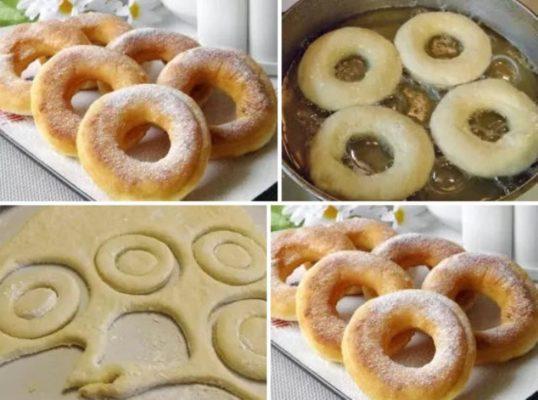 Пончики на кефире за 15 минут - бабулин рецепт