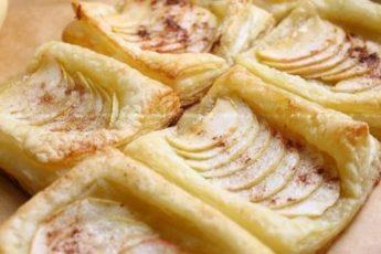 Красивое угощение к чаю — слойки с яблоком и корицей