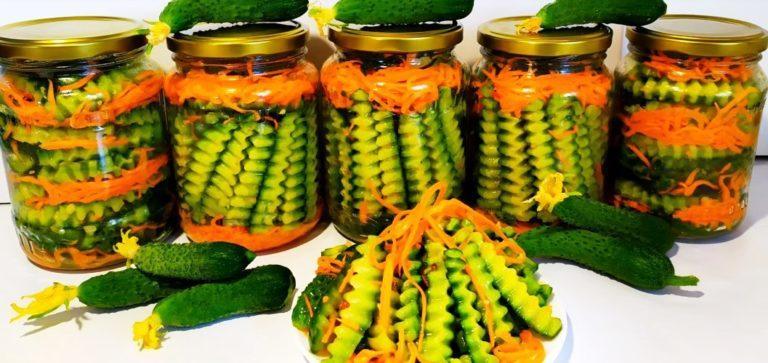 Салат который понравится всем! 30 банок за зиму улетают: огурцы по-корейски на зиму.