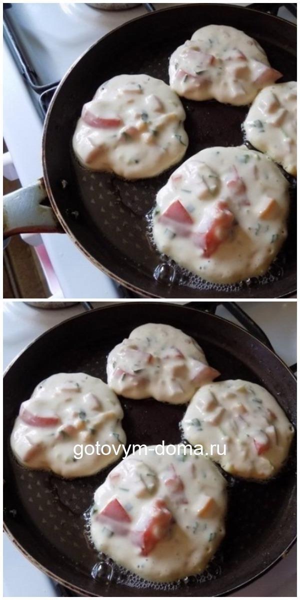 Завтрак на «Ура»: оладьи со вкусом пиццы
