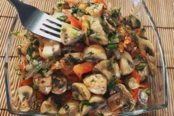Рецепт изумительно вкусного салата из шампиньонов по-корейски 1